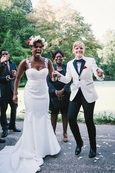 Not Even Cancer Could Stop This Amazing Brooklyn Wedding  ''A celebration made possible by family and friends..'' #SameSexInterracialWedding #WWBW
