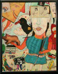 Lou Sebastian mixed media art