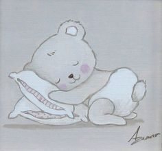 Aida Zamora - Art for kids. Custom paint. Cuadro infantil personalizado. Teddy.