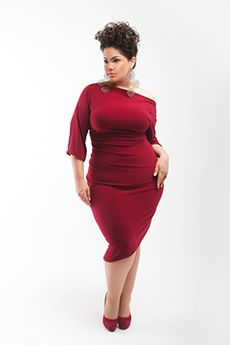 Loving the color and cut of this dress...