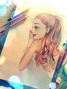 accessories, cute, drawing, Dream, fashion, vintage, swag, amazing, hairstyle, brunette, girl, indie, smile, wow, luela, art, drawings, artist, colors, hair, style, ariana grande, blonde, color, nails, styles, girly, nails art, pretty, white