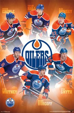 Edmonton Oilers Superstars NHL Hockey Action Poster - Costacos 2013 - there has been a few changes here. Hemsky traded, Whitney gone, Smyth retired and Horcoff traded. Well, we still have Hall and Eberle. Two out of six, not bad. Hockey Rules, Hockey Teams, Ice Hockey, Hockey Stuff, Sports Teams, Hockey Posters, Hockey Boards, Connor Mcdavid, Wayne Gretzky