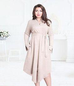 Women Plus Size Long Sleeve V-Neck Mid-Calf Casual Dress Women s Fashion  Dresses 7531a80bda41