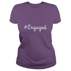 Awesome Tee Hashtag Engaged T shirts