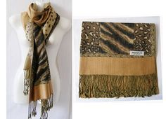 New Women's Camel Pashmina winter scarf SCARF0918 TheDapperTie. $13.99