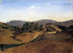 Olevano, the Town and the Rocks, 1827  Camille Corot