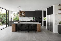 003-riviera-65-metricon Luxury Kitchen Design, Best Kitchen Designs, Luxury Kitchens, Cool Kitchens, Sorrento, Kitchen Island, Floating Kitchen Island