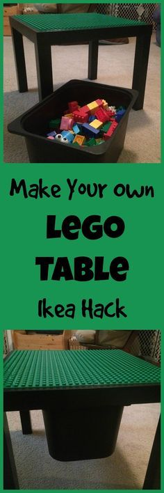 Lean and Green Frugal Living: How to Build a Lego Table from an Ikea Lack Table