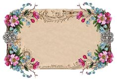 Beautiful vintage floral frame from Free Pretty Things For You