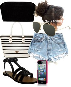 """Beach"" by kati-emilia-heini ❤ liked on Polyvore"