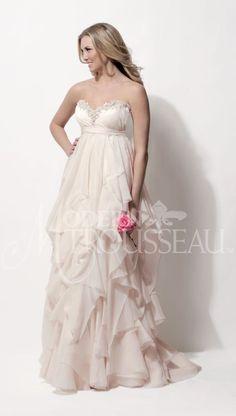 Norah empire waist wedding dress by Modern Trousseau