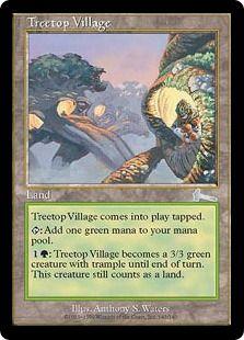 1 PROMO FOIL Treetop Village Land Summer of Magic Mtg Magic Rare 1x x1