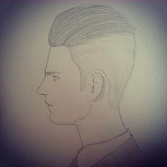 Visages dun homme de profil