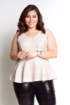 Plus Size Clothing for Women - Loey Lane Golden Sparkler Top (Size 14 - 24) - Society+ - Society Plus