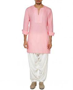 Blush Pink Full Sleeves Kurta