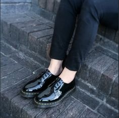 Dr Martens Patent Black 1461 Photo shared by @nugrunge on Instagram