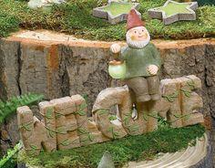 "Grasslands Road ""Welcome"" Sign with Gnome, 10-Inch #GrasslandsRoad #Lantern #GID #GlowsIntheDark #Small #SecretGarden #GiftIdea #Fairy #FairyGarden #Cement #Resin #Metal"