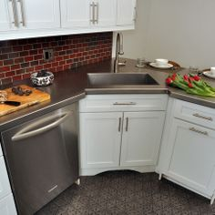 Superb Evanston Historic Condo Kitchen · Kitchen Sink DesignCorner ... Part 30