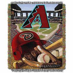 "Arizona Diamondbacks Mlb Woven Tapestry Throw (home Field Advantage) (48""x60"")"