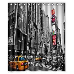 """Innovation Print Design Black and White Color New York City Skyline Shower Curtain Mildew Waterproof Polyester Fabric Bathroom Shower Curtain 60"""" x 72"""" Inch"""