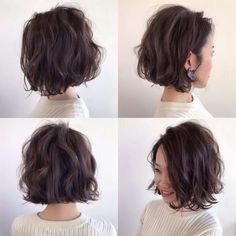 80 Bob Hairstyles To Give You All The Short Hair Inspiration - Hairstyles Trends Wavy Bob Hairstyles, Pretty Hairstyles, Hairstyle Ideas, Bobs For Thin Hair, Wavy Bobs, Messy Short Hair, Short Hair Cuts, Medium Hair Styles, Curly Hair Styles