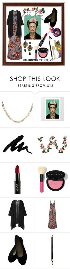 """""""frida kahlo"""" by kylieriot ❤ liked on Polyvore featuring Luna Skye, NYX, Bobbi Brown Cosmetics, Eileen Fisher, Emilia Wickstead, Chanel and Clarins"""
