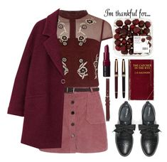"""""""I'm Thankful For..."""" by dariafrank ❤ liked on Polyvore featuring River Island, MANGO, Max&Co., Bobbi Brown Cosmetics, Montblanc and Isabel Marant"""