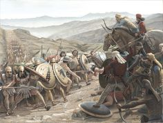 Battle between Greeks and Persians by Mikel Olazabal