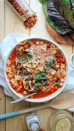 Chickpea Tomato Minestrone via @AOL_Lifestyle Read more: https://www.aol.com/food/recipes/chickpea-tomato-minestrone