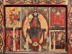 Altar frontal from Sant Martí in Puigbò. Anonymous  First quarter of the 12th century  Tempera on poplar and pine wood