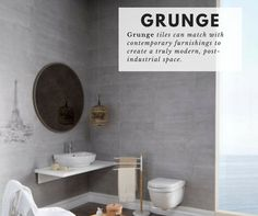 Grunge #tiles are a stylish and modern option for industrial-chic spaces. Free samples now available. #tiles #decorate #design #interiordesign