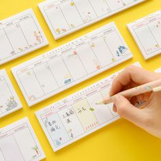 Cheap kawaii weekly planner, Buy Quality planner book directly from China weekly planner Suppliers: 18 Style new Cute Kawaii Weekly Planner Book Diary Agenda Filofax Dokibook Can Tear mini Sticky Notes School Supplies