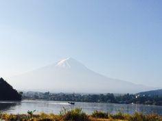 Mount FuJi.. It's a Beautiful Morning ☀️ in Kawaguchiko Lake (10/19/2014)