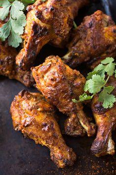 Crispy Chicken Wings Tandoori Style | thecozyapron.com