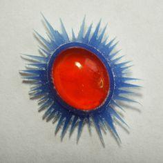 Fire opal pendant in process ...