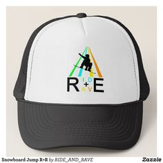 Snowboard Jump RR Trucker Hat - Fashionable Urban And Outdoor Hunter Farmer Trucker Hats By Creative Talented Graphic Designers - #hats #truckerhats #fashion #design #designer #fashiondesigner #style #trends #bargain #sale #shopping - Trucker Hats are a great way to cheer your team or promote your brand or make a unique fashion statement or simply keep the sun out of your eyes - Customizable trucker hats are the perfect way to look cool and memorable - Trucker Hats can be customized with…