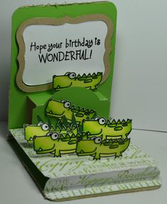 2012 Pop N Cut made for my Nephew for his sixth Birthday using Sizzix Pop N Cuts, Hero Arts and Paper Smooches Stamps.