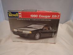 1990 COUGAR XR-7 REVELL 2N1 1:25 SCALE SKILL 2 VINTAGE PLASTIC MODEL KIT #7185 Plastic Model Kits, Plastic Models, Revell Model Kits, Scale, Vintage, Weighing Scale, Vintage Comics, Libra, Balance Sheet