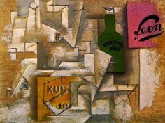 Pablo Picasso, Paesaggio con Manifesti, 1912