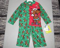 SCOOBY DOO Boys 4 NEW Pajama Set NWT PJ Pants & Shirt Christmas Set Kids Holiday  BRAND NEW WITH TAGS little boys pajama set, size 4. Included is a FLAME RESISTANT Scooby Doo holiday shirt with matching FLAME RESISTANT pajama bottoms #ScoobyDoo #Christmas