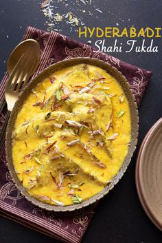 Best shahi tukda recipe in Hyderabadi and old Delhi style step by step. Shahi tukra sweet is a traditional Indian dessert of deep fried bread slices dunked in sugar syrup and topped with rabdi or milk cream. Shahi Tukda Recipe With Condensed Milk, Recipes Using Condensed Milk, Shahi Paneer Recipe, Paneer Recipes, Indian Dessert Recipes, Indian Sweets, Indian Recipes, Vegetarian Recipes, Snack Recipes