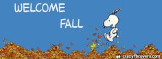 Snoopy Welcome Fall Facebook Cover - Facebook Timeline Cover Photo - Fb Cover