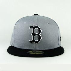 7989a6924c0 Boston Red Sox Gray Black Custom Fitted 59Fifty · New Era ...