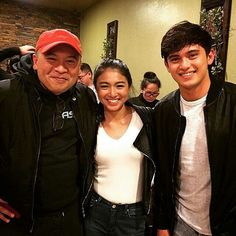 Repost from @ericjohnsalut The Filipino Channel's Direk @direkjdl with James in Nadine in SFO. Thank you, Direk John-D for co-producing the SFO scenes in #OnTheWingsOfLove And the good words about James and Nadine.