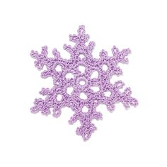 Crochet Snowflake WhiteDew - free pattern from 100 Snowflakes to Crochet by Caitlin Sainio