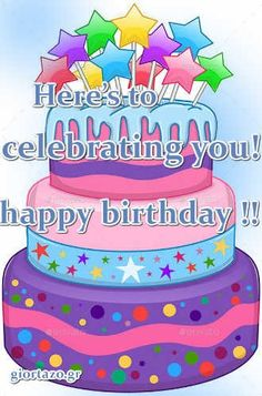 Best Happy Birthday Wishes giortazo Make someone's birthday more special Pics And Gifs Happy Birthday Wishes Pics, Happy Birthday Fun, Birthday Cake, Baguette, Gifs, Greeting Cards, Desserts, Happy Birthday Minions, Happy Birthday