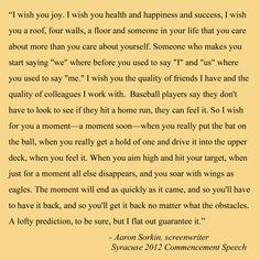 Aaron Sorkin's Syracuse University 2012 Commencement Speech