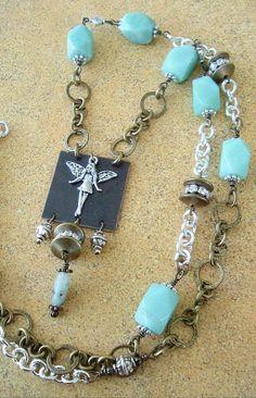 Boho Necklace Junk Gypsy Fairy Necklace Bohemian by BohoStyleMe