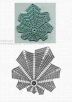 Transcendent Crochet a Solid Granny Square Ideas. Inconceivable Crochet a Solid Granny Square Ideas. Crochet Leaf Patterns, Crochet Leaves, Crochet Motifs, Freeform Crochet, Crochet Diagram, Doily Patterns, Crochet Chart, Crochet Squares, Thread Crochet