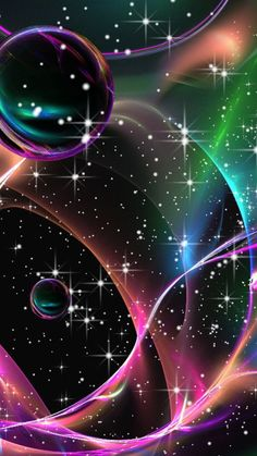By Artist Unknown. Mermaid Wallpaper Backgrounds, Bubbles Wallpaper, Planets Wallpaper, Iphone Background Wallpaper, Butterfly Wallpaper, Colorful Wallpaper, Photo Wallpaper, Colorful Backgrounds, Phone Screen Wallpaper